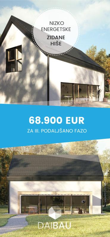 Masivne hiše na ključ za dostopno ceno