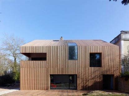 Fasada in materiali za fasade na hiši