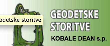 GEODETSKE STORITVE DEAN KOBALE DIPL. ING. GEOD. S.P.