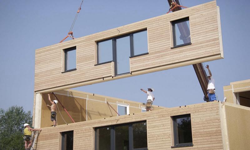 Gradnja montažne hiše