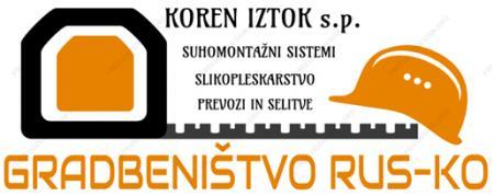 RUS-KO, Iztok Koren s.p., suhomontažni sistemi, zaključna gradbena dela in prevozi