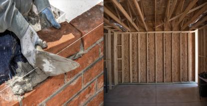 Razlika med montažno in zidano steno