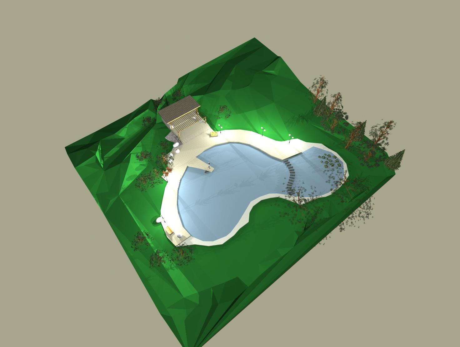 Zunanja ureditev _ plavalni ribnik