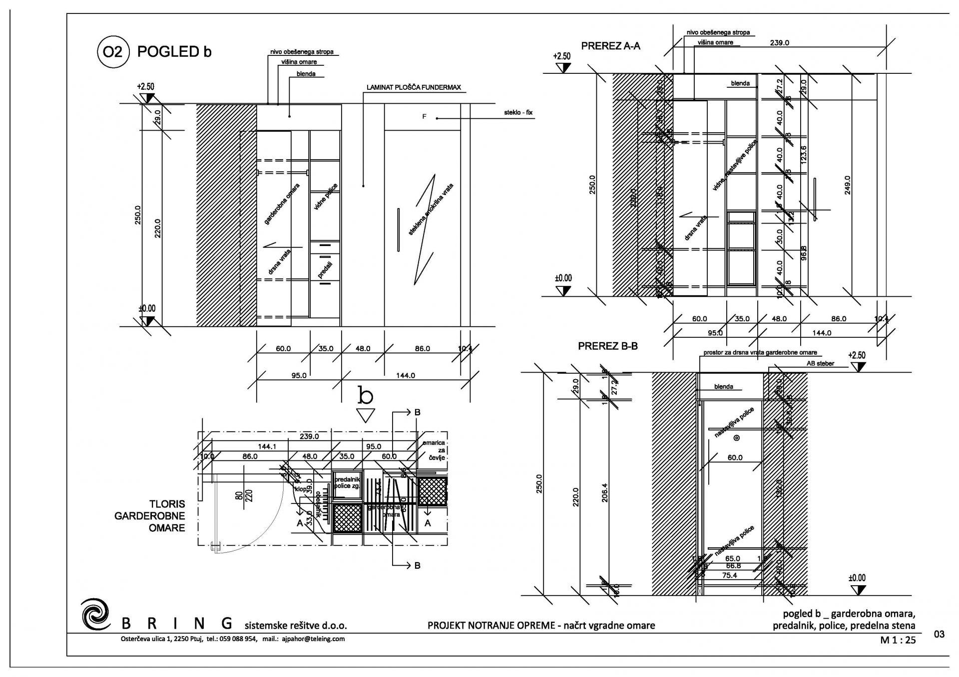 Interier_načrt notranje opreme