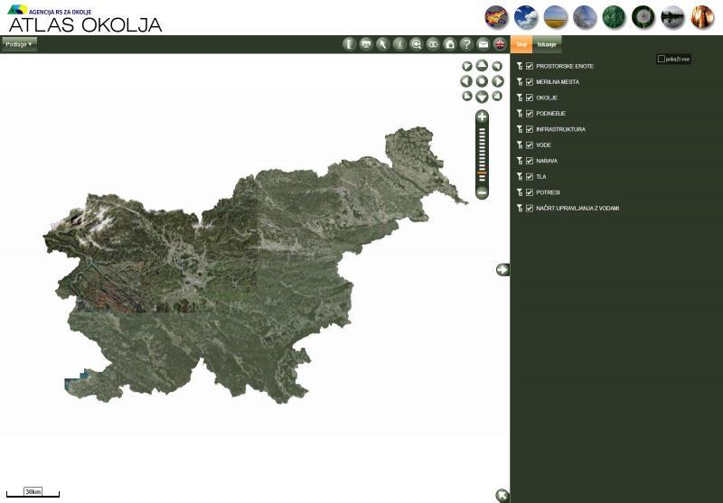 Internetna orodja s podatki o bodočem zemljišču