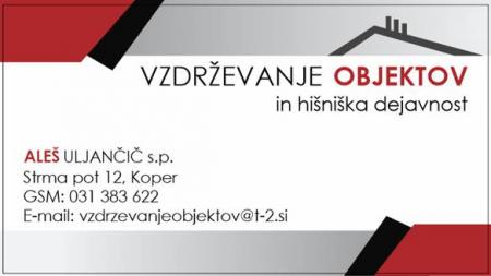 Vzdrževanje objektov, ALEŠ ULJANČIČ s.p.