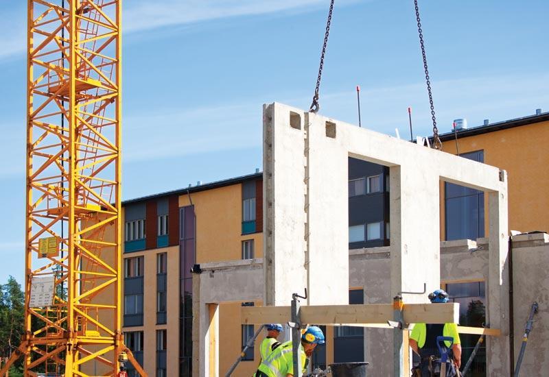 Gradnja montažne hale iz betona
