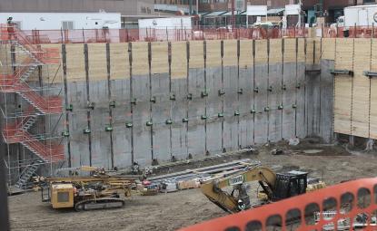 Varovanje gradbene jame