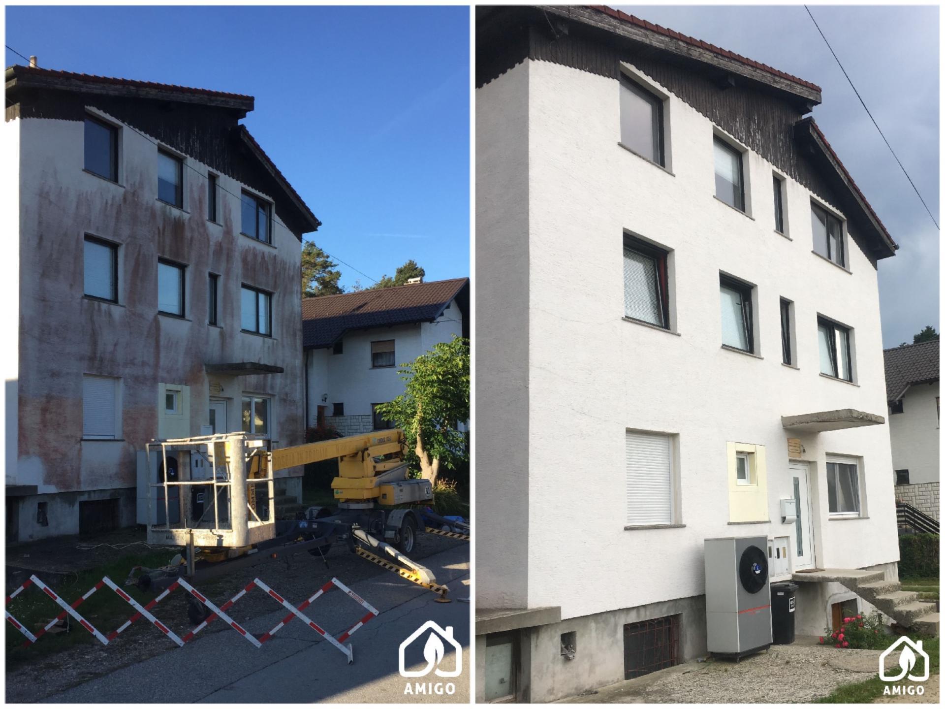 Čiščenje bavalit fasade