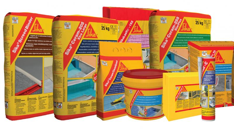 Sika produkti za keramiko