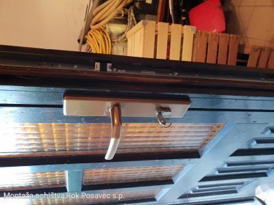 Menjava krpan ključavnice na vhodnih vratih ter varnostne kljuke