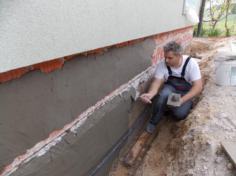Sanacija stavbe obvezno zajema tudi sanacijo dela pri temeljih