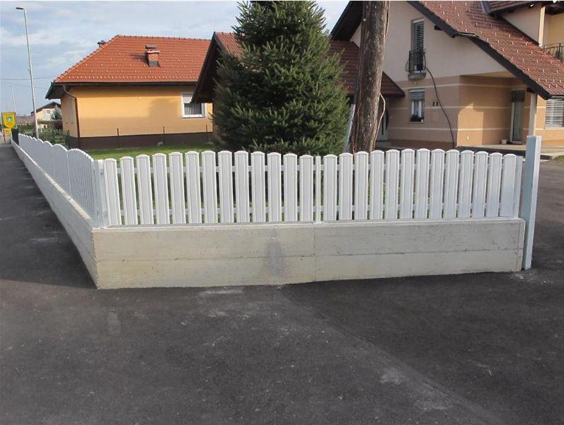 PVC ograje za vrtove in balkone