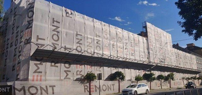 Gradbena mreža kot jumbo reklama!