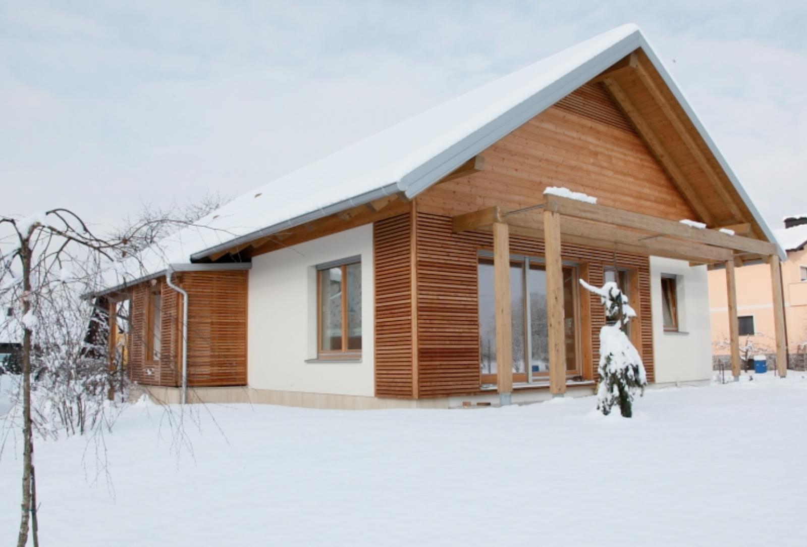 Moderna lesena hiša