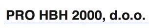 Pro HBH 2000 d.o.o.
