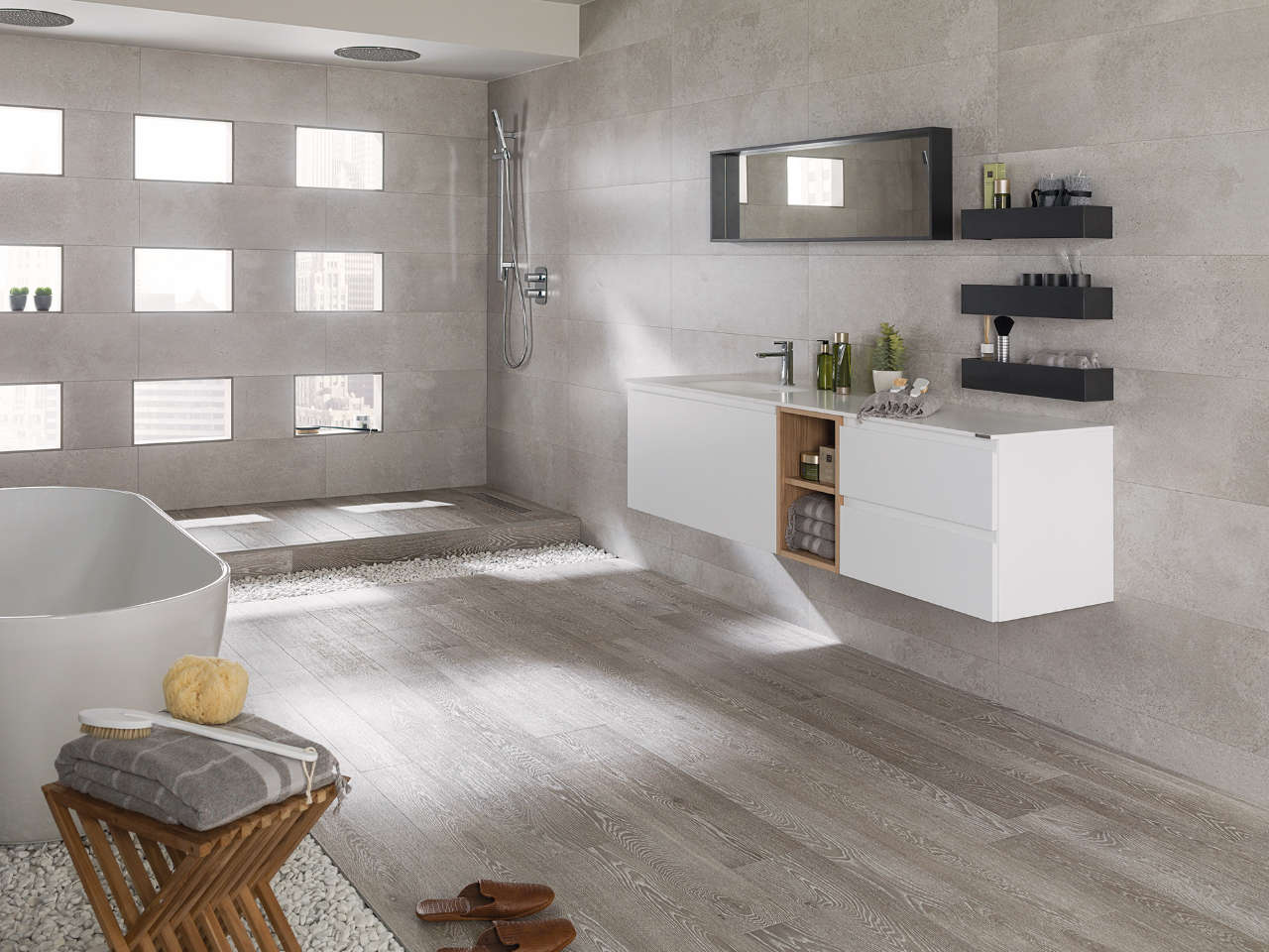 Moderna kopalnica ljubljana porcelanosa grupo ltd - Ceramica imitacion parquet ...