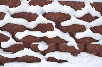 Gradnja hiše pozimi, gradbena dela v hladnem vremenu