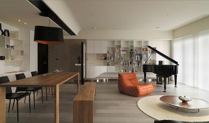 Minimalistično sodobno stanovanje