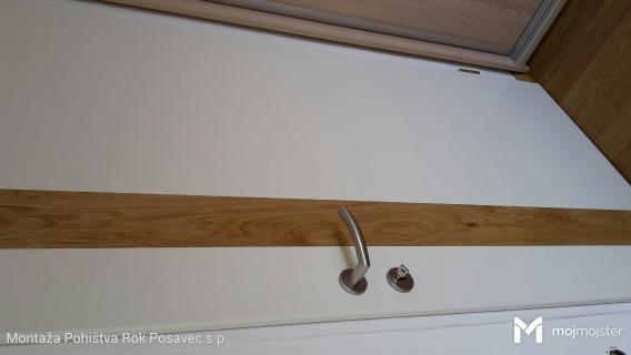 Notranja vratakrilo montaža na obstoječi kovinski podboj