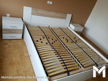 Montaža postelje Momax z nočnima omaricama